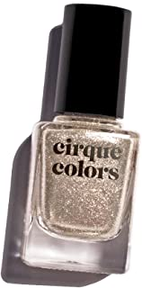 Cirque Colors Metallic Nail Polish - Reflektor - Pure Silver-Coated Micro-flakes - 0.37 fl. oz. (11 ml) - Vegan, Cruelty-Free, Non-Toxic Formula