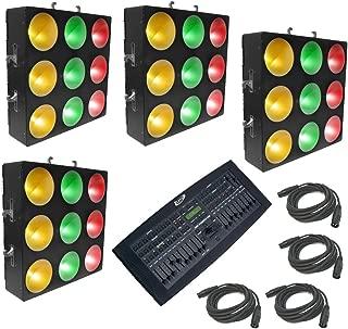 Chauvet DJ (4) Core 3X3 Pixel Mapping Tri Color Light Dmx Operator Pro & Cables