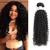 BLY 7A Mongolian Virgin Kinky Curly Human Hair Bundles Extensions 3 Bundles Unprocessed Curly Weave Natural Black Hair(10/12/14 Inch)