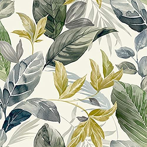 Vilber Papel pintado, estampación digital sobre tejido-no tejido, pvc free, tintas ecológicas hp latex. Ancho especial de 68 cm x10 m. de largo. Cubre 6,80 m2. LEAVES.2678 W-02, Leaves 02