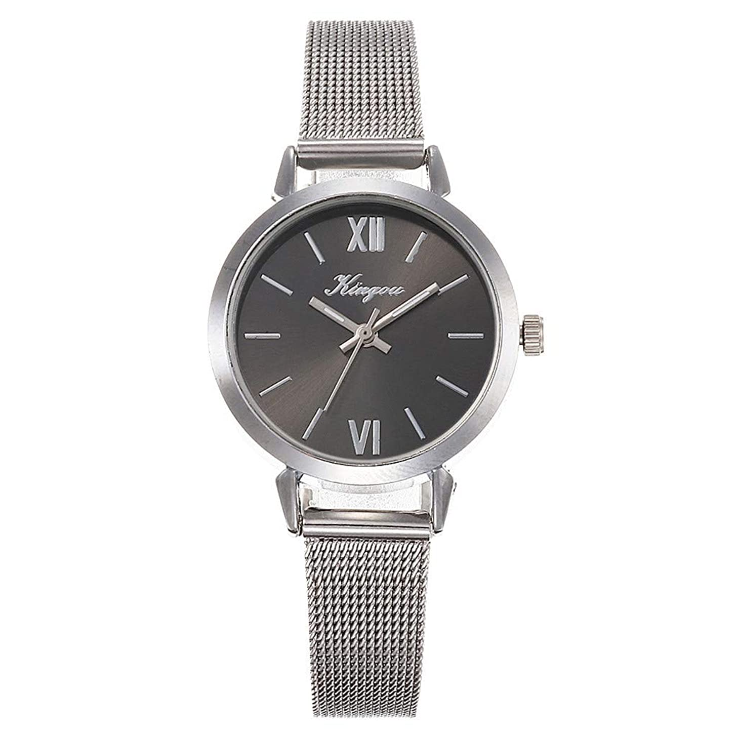 LUCAMORE Women Analog Quartz Watch Stainless Steel Mesh Band Casual Fashion Business Wrist Watches