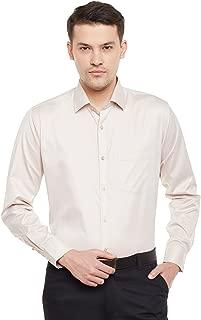 Lamode Men's Solid Silver Pink Formal Shirt944
