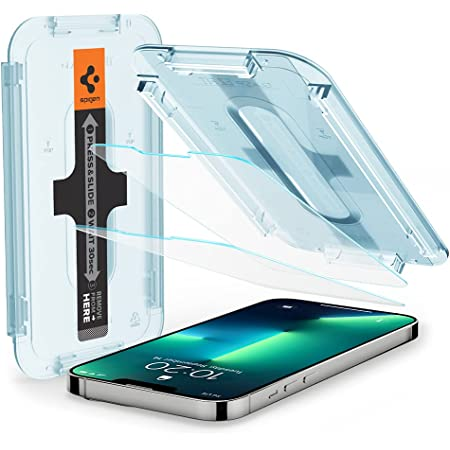 Spigen Tempered Glass Screen Protector [Glas.tR EZ Fit] designed for iPhone 13 Pro (2021) / iPhone 13 (2021) - 2 Pack