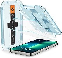 Spigen Glas.tR EZ Fit Screenprotector compatibel met iPhone 13, iPhone 13 Pro, 2 Stuks, met Sjabloon voor Installatie,...