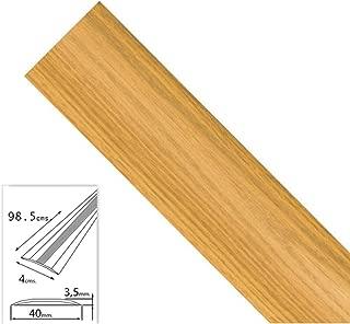 Wolfpack 2541130 Tapajuntas adhesivo para moquetas (aluminio, 98,5 cm) color roble