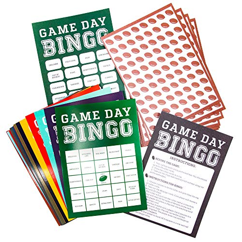 Game day bingo will keep everyone interested in the game