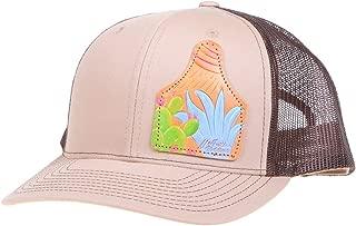 NRS Mens Ladies Khkai Cap with Ear Tag Cactus Patch OS Khaki