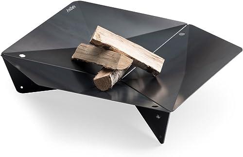 höfats - TRIPLE 90 Brasero - Cheminée et gril design - pour terrasse et jardin - Acier Corten aspect rouille