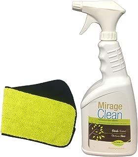Mirage Hardwood Clean 1 Liter Floor Cleaner 32 oz Spray + Mirage HarDwood Clean 4 inch x 15 inch Replacement Mop Cover