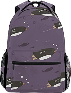 penguin backpack fish