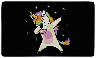 Candy House Indoor Super Absorbs Mud Hip Hop Dabbing Unicorn Doormat For Front Door Inside Floor Dirt Mats Non-Slip Entrance Rug 23.6