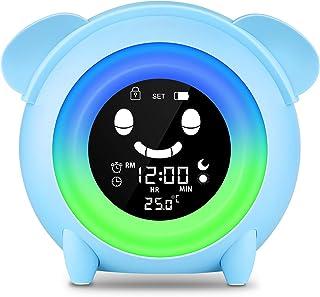 Lovebay Réveil d'apprentissage pour enfant avec 7 couleurs changeantes et câble de chargement USB