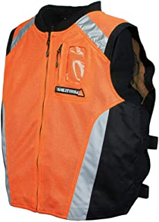 Joe Rocket Men's Military Spec Mesh Vest (Orange, Large/X-Large)