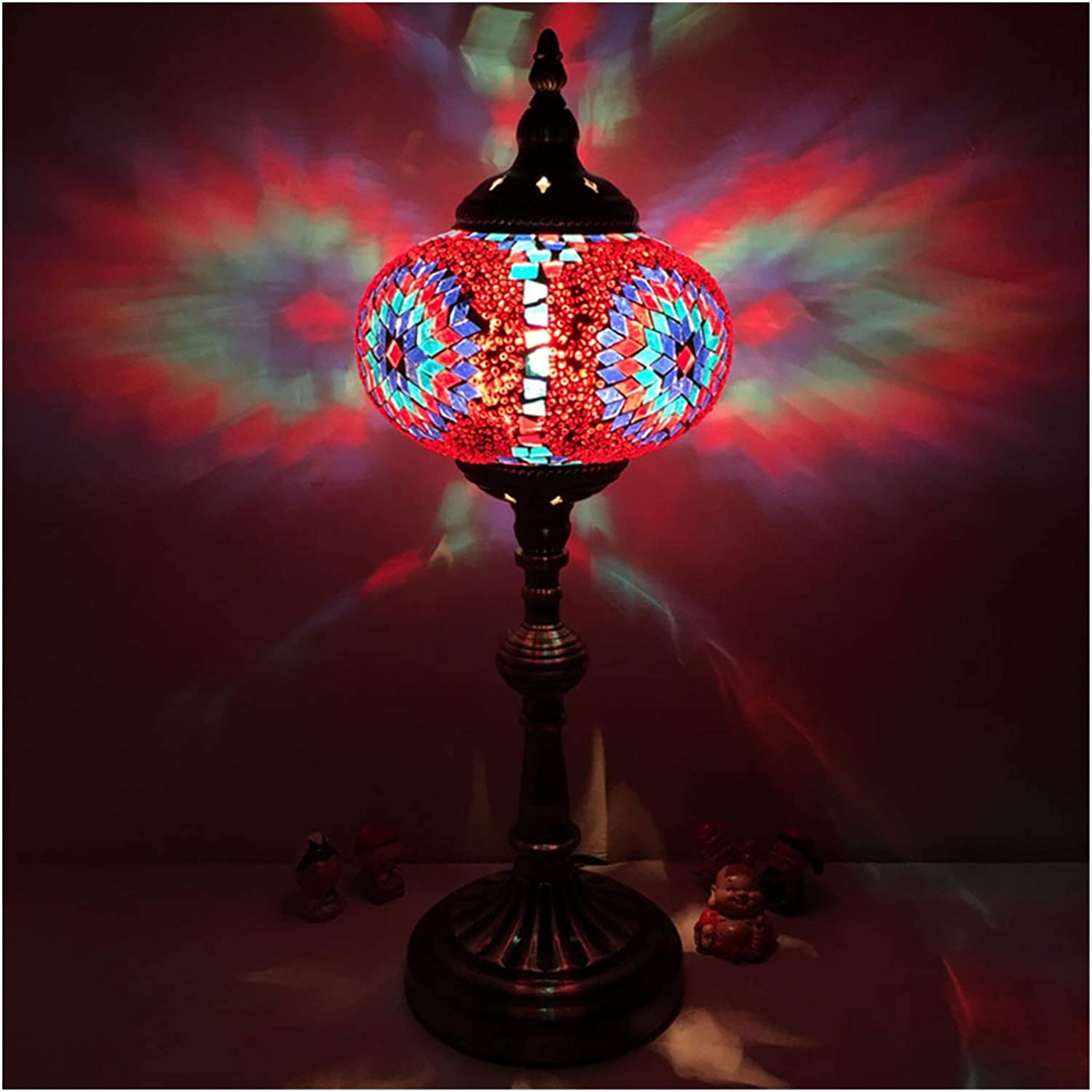 Table Lamps Decorative Mosaic Style Lamp Ar Chicago Mall Mediterranean Max 82% OFF