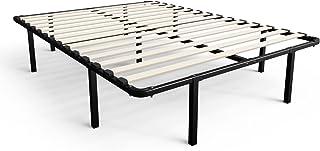 Zinus Cynthia 14 Inch MyEuro SmartBase / Wooden Slat / Mattress Foundation / Platform Bed Frame / Box Spring Replacement, ...