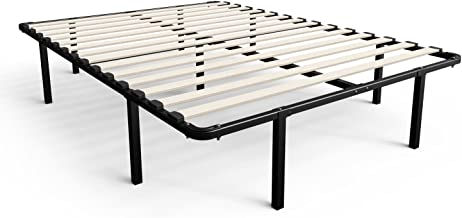 Zinus Cynthia 14 Inch MyEuro SmartBase / Wooden Slat / Mattress Foundation / Platform Bed Frame / Box Spring Replacement, ...