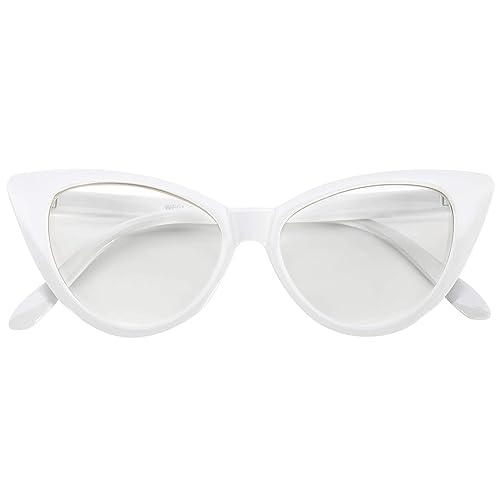White Eye Glasses: Amazon.com