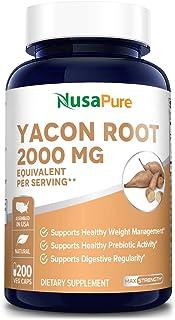 Sponsored Ad - Yacon Root Extract 2000mg Serving 200 Vegetarian Capsules (Extract 4:1, Non-GMO & Gluten Free) - Raw Natura...