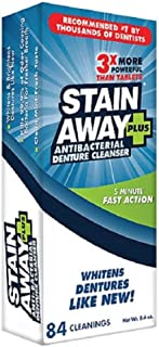 STAIN-AWAY PLUS DENTURE CLEANSER 8.4 OZ
