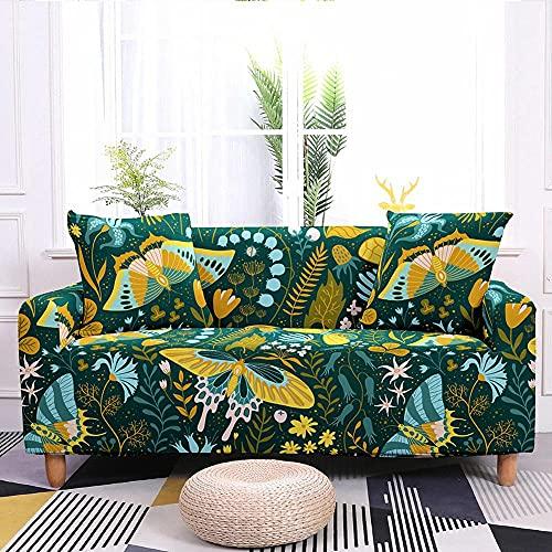 WXQY Funda de sofá elástica con Estampado de Mariposas en Color Funda de sillón elástica Antideslizante Funda de sofá Todo Incluido Funda de sofá A4 1 Plaza