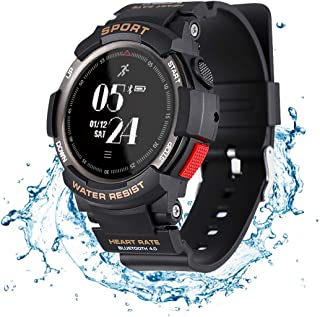N NEWKOIN Smart Watch Sports Watch IP68 Waterproof Supports Running, Cycling, Swimming, Fitness Tracker with Heart Rate Monitor, Calorie & Activity Tracking Sports Smartwatch for Men(Black)