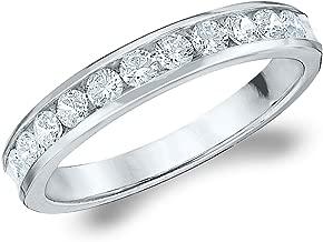 .50CT Symphony Channel Set Diamond Wedding Ring,1/2CTTW Diamond Wedding Band in 14K Gold