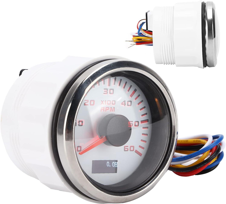 Jopwkuin Marine Tachometer RPM Strong Reliability fo Max 65% OFF Trust