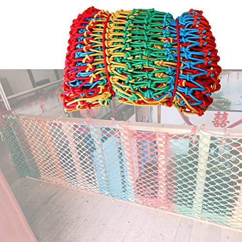 MAHFEI Nylon De Color Red De Seguridad para Niños, Red De Seguridad para Balcones Barandilla De Puente Colgante Escaleras Redes De Prevención De Caídas Redes De Seguridad para Balcones