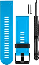 Garmin Replacement Watch Bands - Blue Silicone