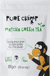 Matcha Green Tea Powder - 100g(3.5oz) Pouch by PureChimp - Ceremonial Grade from Japan - Pesticide-Free (Regular)