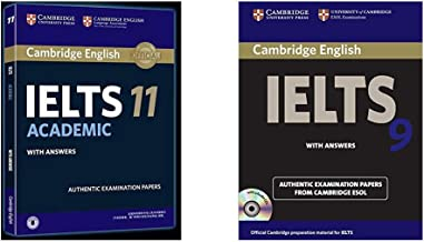 Cambridge English: IELTS 11 Academic with Answers + Cambridge English IELTS 9: with Answers and 2 Audio CDs: With Answers (with CD) (Set of 2 Books)