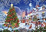 DIY Oil Paint by Numbers for Adults and Kids,SYNHOK Painting by Number Kits,Acrylic Drawing Paintwork with 16x20 Inch Canvas for Beginners(Christmas Snow)