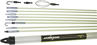 Jameson 7-8-IK Installer's Glow Rod Wire Electrical Fishing Kit with Accessories and 35 Total Feet of Fiberglass Rod
