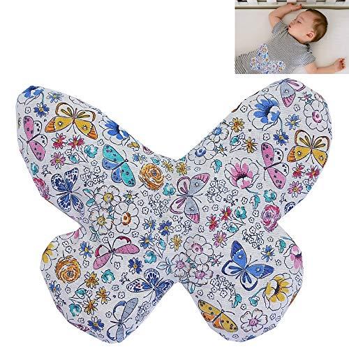 Saquito térmico anti cólicos bebé 'Mariposa blanca'- relleno de 170gr de huesos de cereza...