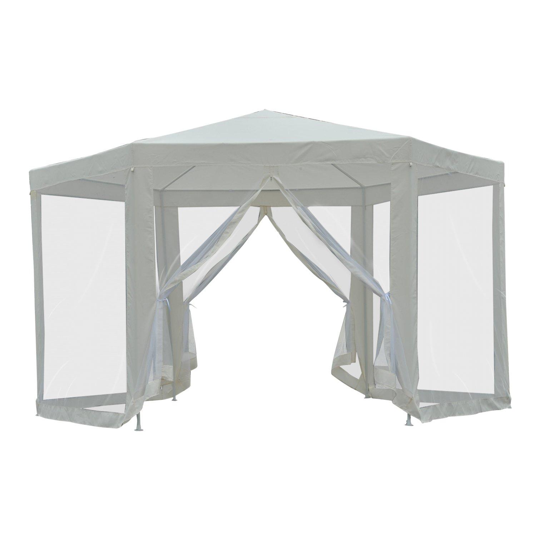 Outsunny® - Carpa para jardín (Cuadrada, poliéster y Metal, 390 x ...
