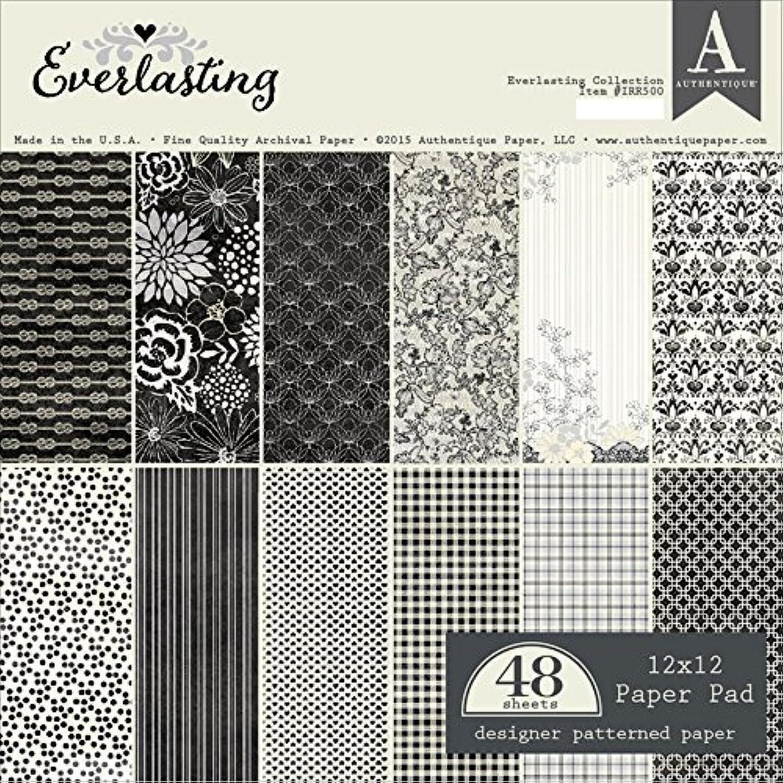 Authentique Authentique Authentique Doppelseitiges Papier Pad 12 Zoll x 12 Zoll 24 kg-everlasting B012FLSIRI  | Mittlere Kosten  432b55