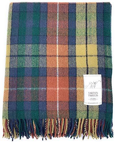 Tartan TWEEDS - Coperta in lana tartan di alta qualità, ideale per picnic, dimensioni:162,6 x 193,0 cm.