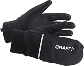 Craft Hybrid Weather 2-in-1 Bike Cycling Mitten Gloves, Black, X-Large