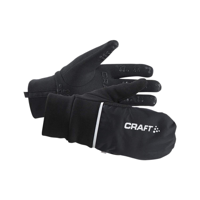 Craft Radhandschuh Lang 2 In 1 Hybrid Weather Gloves, Black,XL