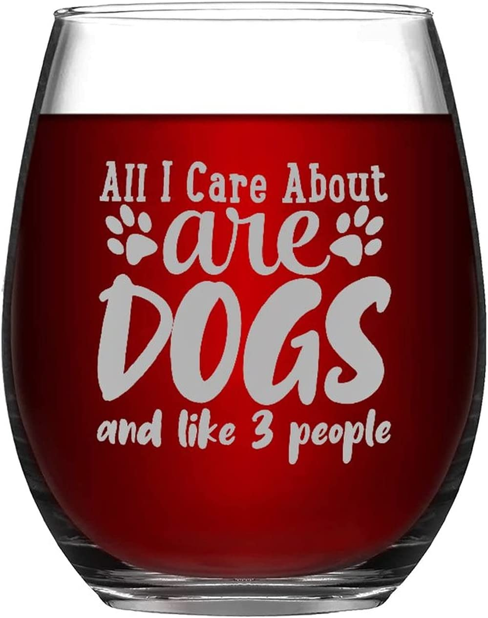 Funny Stemless Wine Glass All I Care New Orleans Mall And Dogs About Like Nashville-Davidson Mall Peo Are