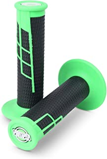 Pro Taper Clamp On Grips - 1/2 Waffle (NEON Green/Black)