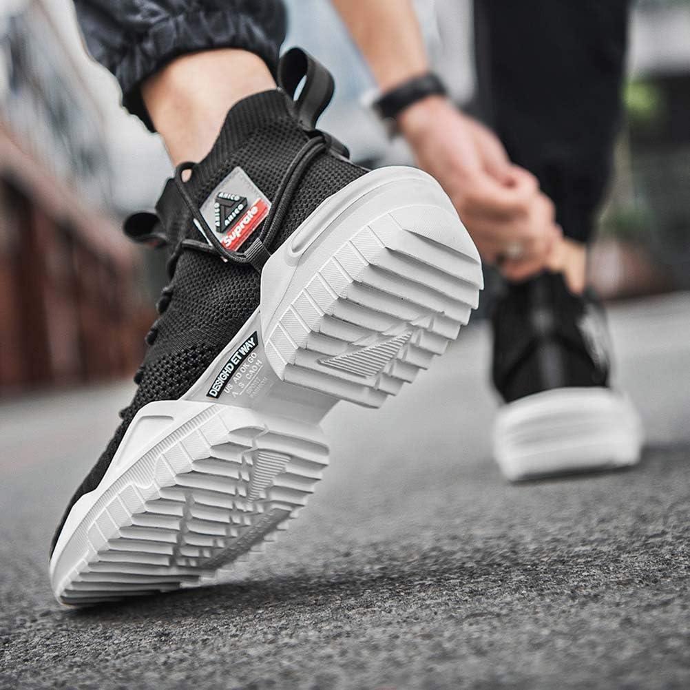 Ahico Men Walking Shoes Fashion Sneaker Running Athletic Non Slip Platform Socks Shoe Stylish Casual Fitness Comfortable Sports