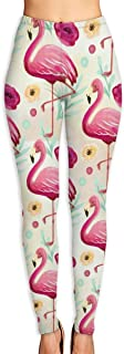 High Waist Yoga Pants, Tummy Control Workout Running Pants Flat Dinosaur Pattern