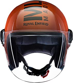 Royal Enfield Gloss Orange Open Face with Visor Helmet Size (L)58 CM (RRGHEL000059)