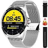 ieverda Smartwatch,1.54 Zoll Touch-Farbdisplay Fitness Armbanduhr mit Pulsuhr Fitness Tracker IP68 Wasserdicht Sportuhr Smart Watch mit Schrittzähler,Schlafmonitor,Stoppuhr für Damen Herren
