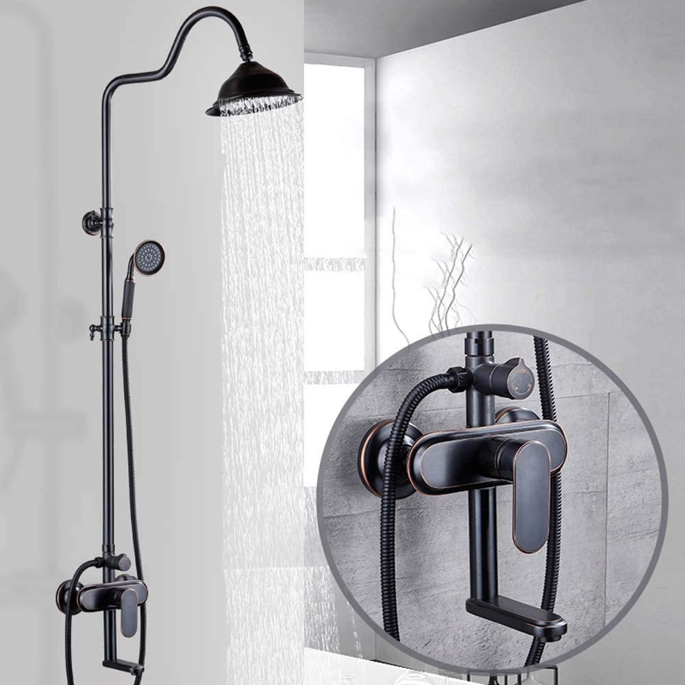 ShiSyan All-Copper Household Black Ho Large-scale sale Shower Head European-Style Ranking TOP8