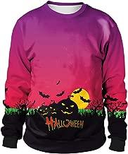 TWGONE Womens Tops Halloween Pumpkins 3D Printing Long Sleeve Polyester Sweatshirt Pullover Top