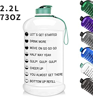 Moonice 2.2L Gym Sports Water Bottle Half Gallon Jug with Flip Cap Dishwasher Safe Portable Tritan BPA Free Large Water Bottle Ideal for Dieting,  Bodybuilding,  Outdoor Sports,  Hiking & Office