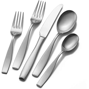 Mikasa Satin Loft 65-Piece 18/10 Stainless Steel Flatware Serving Utensil Set, Service for 12