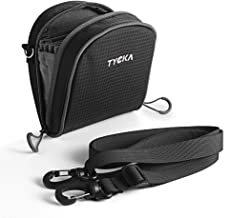 TYCKA Filters Pouch for Filters Up to 86mm, Belt Style Design Filter Bag, Removable Inner Lining Water-Resistant and Dustproof Design with Adjustable Shoulder Strap for 10 Round Filters Black